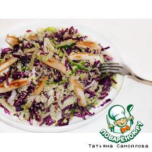 Рецепт Салат из краснокочанной капусты с куриными полосочками