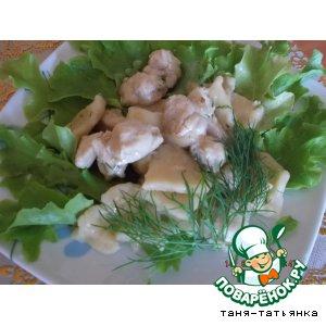 Рецепт Курица с галушками