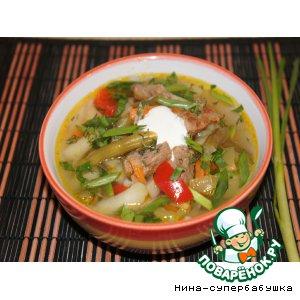 """Рецепт Густой овощной суп """"Палитра вкуса"""""""