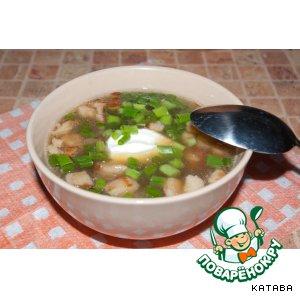 Готовим домашний рецепт с фотографиями Суп из белых грибов с копченостями