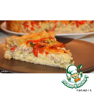 Рецепт Открытый пирог с кабачками и сыром
