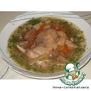 Рецепт Суп из кролика с каштанами
