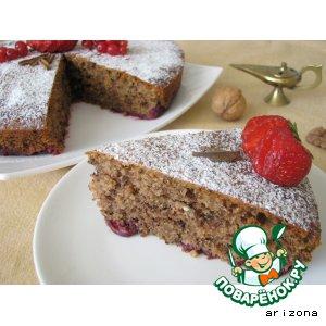 Рецепт Вишневый пирог с рублеными орехами