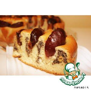 Рецепт Кольцевой сливовый пирог