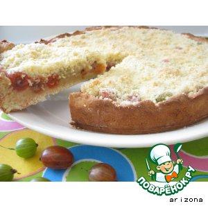 Рецепт Открытый пирог из дрожжевого теста с крыжовником
