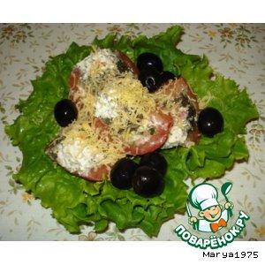 Рецепт Салат из фаршированных помидоров