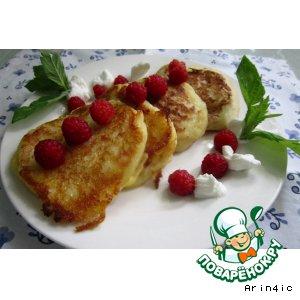 Рецепт Заварные молочные оладьи без яиц