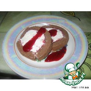 Рецепт Рулет-мороженое с малиной