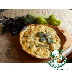 Рецепт Пирог-тарталетка с кабачками и перцем
