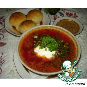 Рецепт Щавелевый борщ с пампушками