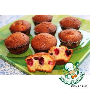 Рецепт Медовые кексы с жимолостью