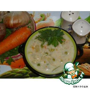 Рецепт Густой молочный суп с овощами