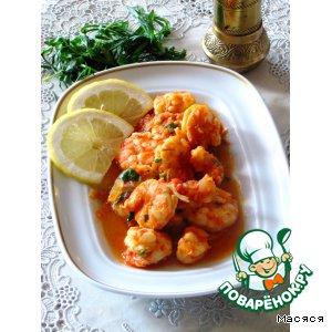 Рецепт Тигровые креветки в соусе