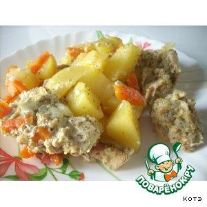 Как готовить Курица с овощами в рукаве домашний рецепт приготовления с фото
