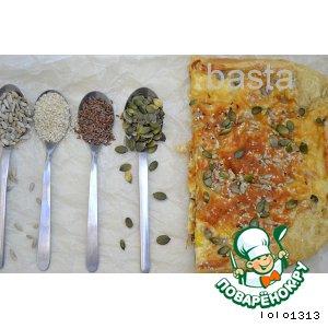 Рецепт Закусочный пирог с семечками