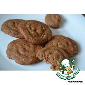 Рецепт Печенье шоколадное из кабачков