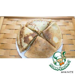 Рецепт Кабачковые блинчики с сырной начинкой