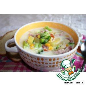 Рецепт Сливочный суп с брокколи и беконом