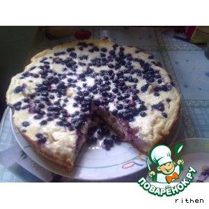 Рецепт Пирог с грушами, ягодами и творогом