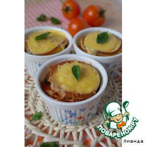 Рецепт Башенки из оладий
