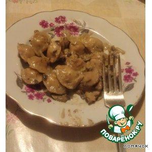 Рецепт Пельмешки в грибном соусе