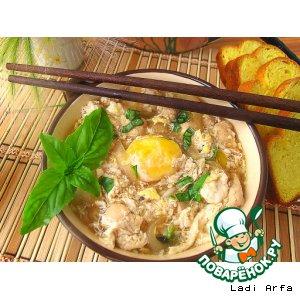 Рецепт Японский суп- oyakodon