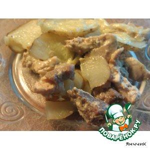 Рецепт Скоблянка из 2 -х видов мяса