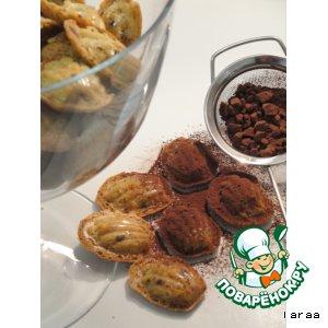 Рецепт Шоколадные мадленки с имбирем