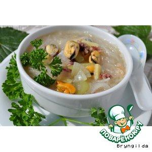 Суп с фунчозой и морским коктейлем пошаговый рецепт с фотографиями как приготовить