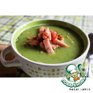 Рецепт Суп с зелeным горошком и ветчиной