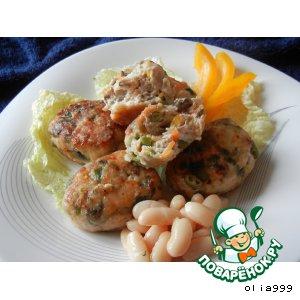 Рецепт Котлетки из индейки с овощами