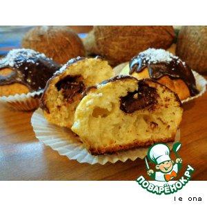 Рецепт Кокосовые кексы с шоколадом
