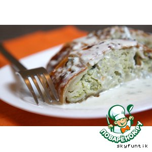 Рецепт Штрудель с брокколи и цветной капустой