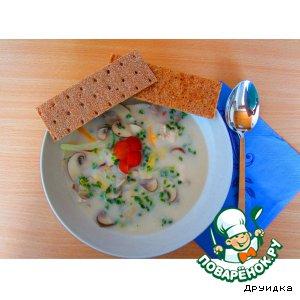 Рецепт Грибной суп с азиатским приветом