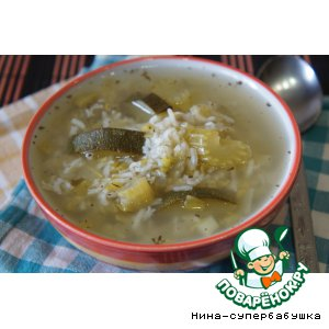 Рецепт Ливанский зеленый суп с рисом