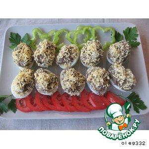 Рецепт Яйца, фаршированные грибами
