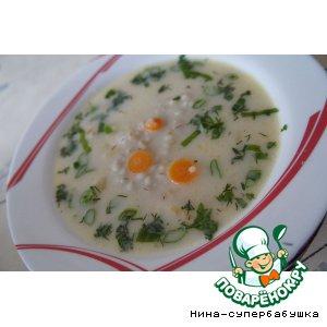 Рецепт Сырный суп с перловкой