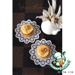 Рецепт Диетическое овсяно-ореховое пирожное с тыквенным кремом