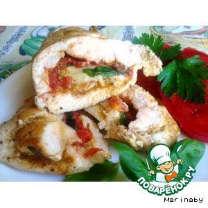 Рецепт Куриное филе  с томатами и базиликом