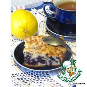 Рецепт Черничный пирог со штрейзелем