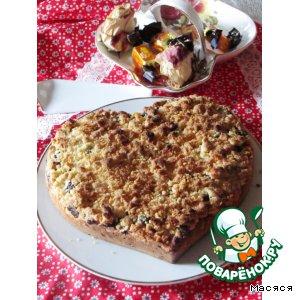 Рецепт Ягодный пирог с двойным штрейзелем