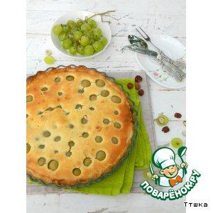 Рецепт Пирог с мускатным виноградом и фундуком