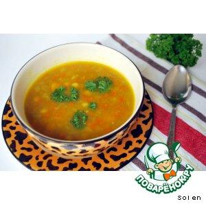 Рецепт Пряный овощной суп с тыквой и нутом