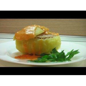 Рецепт Картофель, фаршированный мясом