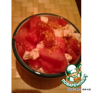 Рецепт Арбузный салат с брынзой