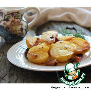 Рецепт Молодой картофель с беконом, чесноком и тимьяном
