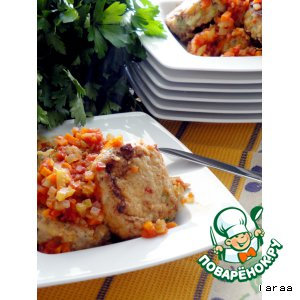 Рецепт Рыбные котлеты с овощным рагу