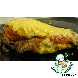 Рецепт Куриная отбивная в сыре и томате PLATINUM