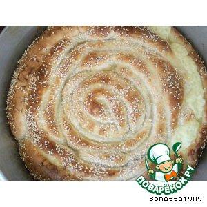 Рецепт Сырный слоеный пирог