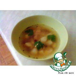 Рецепт Куриный суп с консервированной фасолью